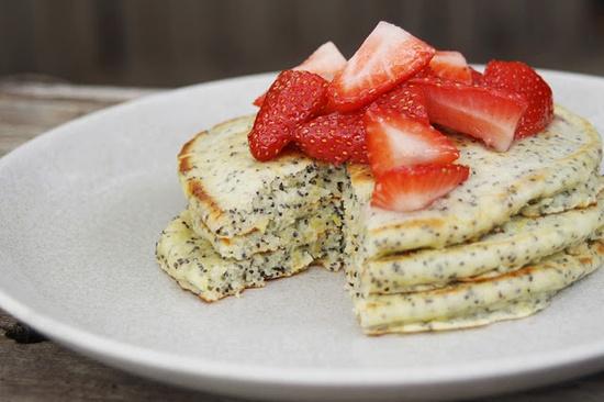 Lemon Poppy Seed Pancakes by pleasenote #Pancakes #Lemon #Poppy_Seed