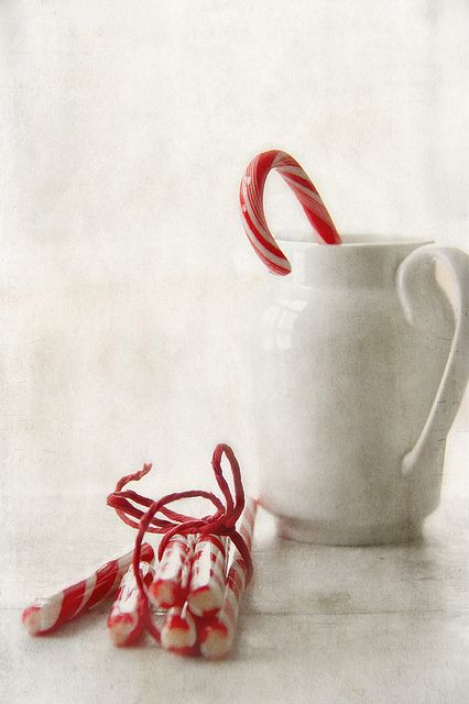 Candy canes and white
