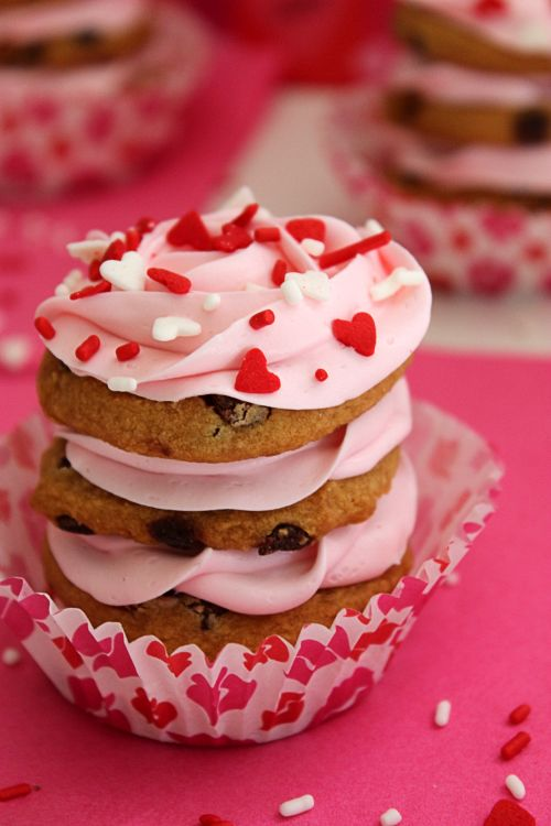 Valentines Cookie Stacks