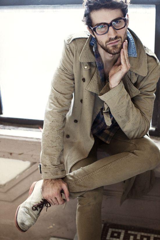 Classy long trenchcoat 2013 #Vogue# #Men's#