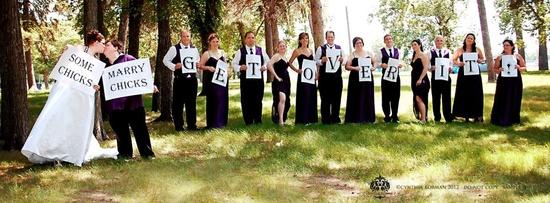 Adorable lesbian wedding photo idea! From: www.facebook.com/...