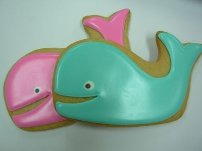 whale party cookies