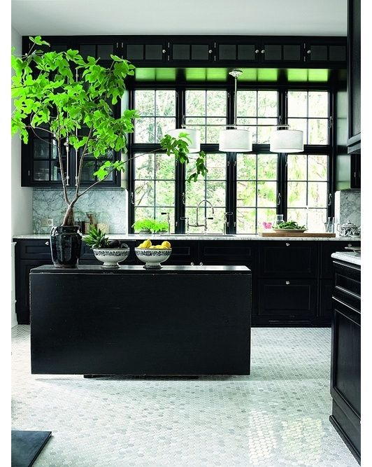 there is nothing more rich than a gorgeous black kitchen - Home and Garden Design Ideas