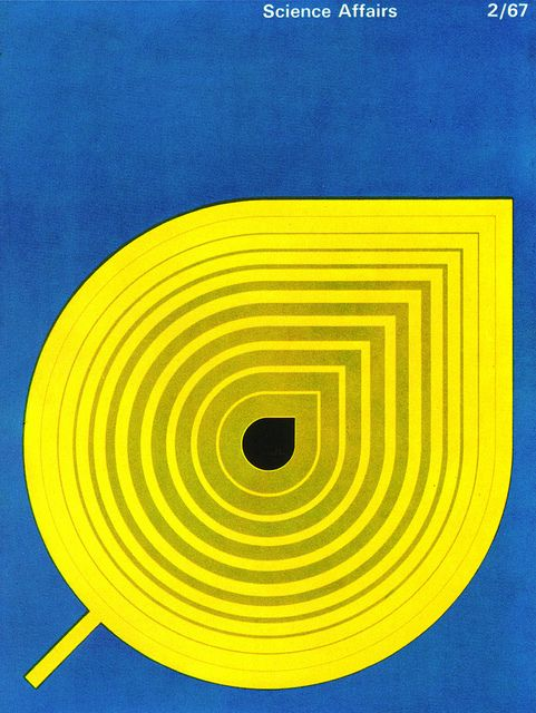 Stuart Ash Illustration    Cover of Canadian magazine Science Affairs. From Graphis Annual 68/69.
