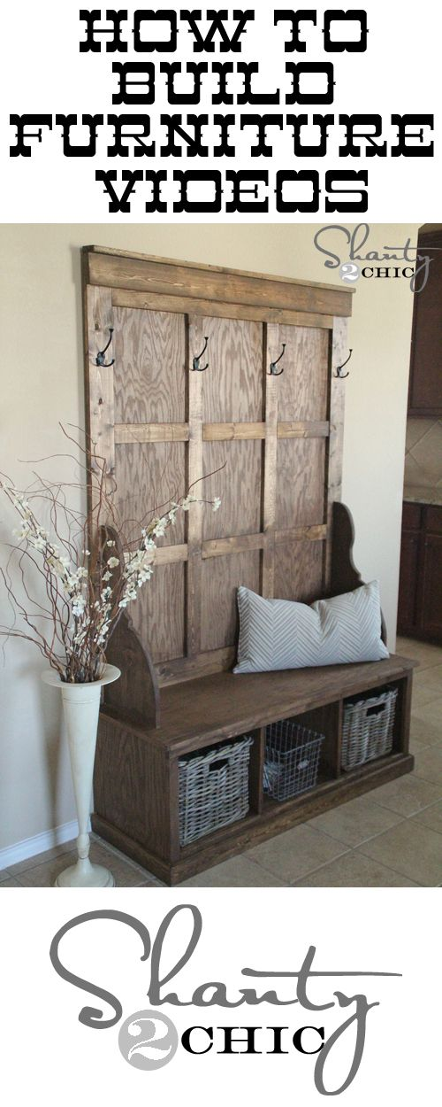 Links to videos on how to build DIY furniture at shanty-2-chic.com