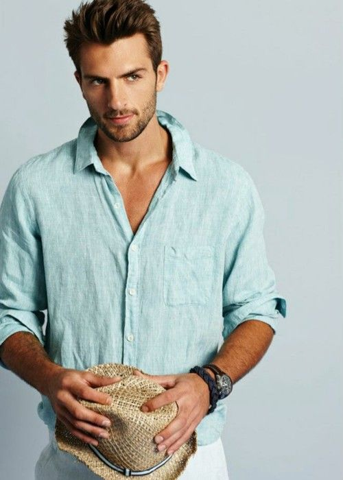 nice, blue shirt... haha