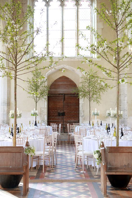 trees at the wedding reception #weddings #events