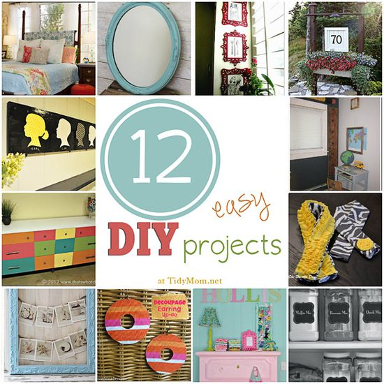 12 Easy DIY Projects~