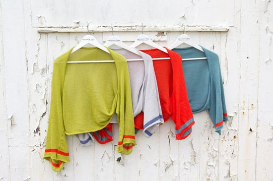 Time to layer up for warmth, & brighten the autumnal wardrobe. Knitted Cotton Shrug by GabrielleVary on Etsy, £49.00