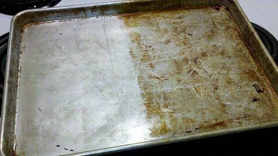 baking soda and peroxide to clean gunk off nasty baking sheets.