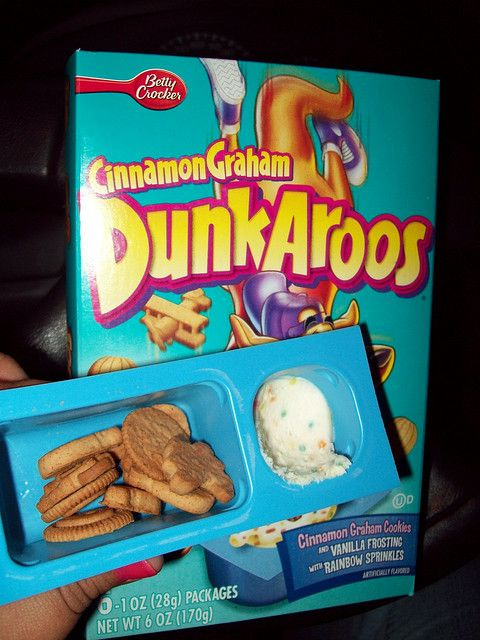 Dunkaroos - literally just cookies in the rainbow chip/funfetti icing but soooooo good!