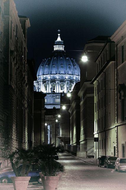 Vatican - San Pietro at night, Rome, Italy