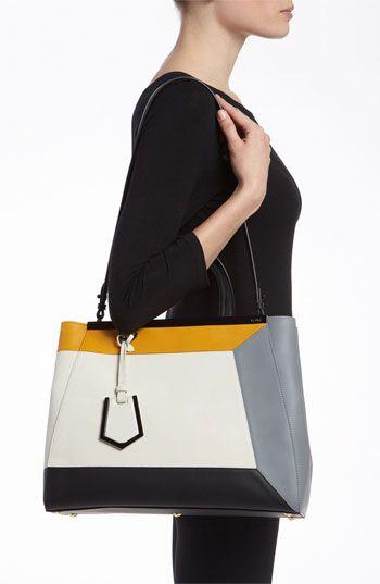 Perfection. Fendi '2Jours 3D - Medium' Leather Shopper