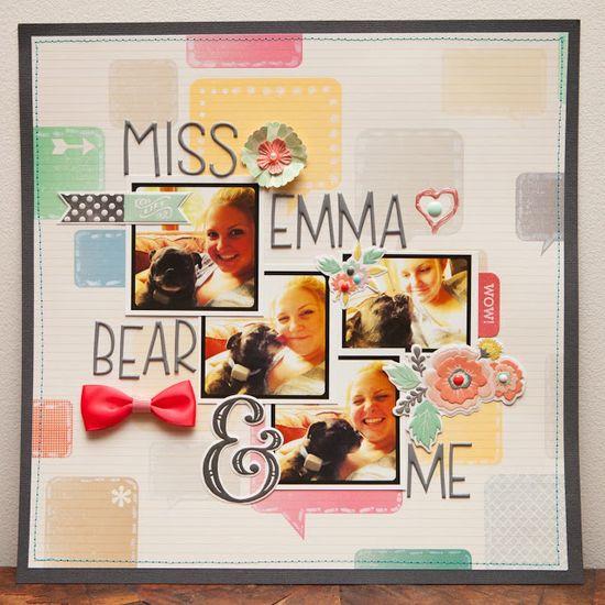 #papercraft #scrapbooking #layout    Miss Emma Bear