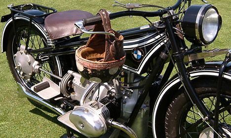 Vintage BMW motorcycle