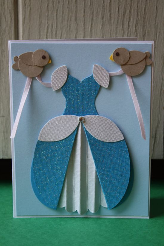 Cinderella Handmade Card by HootandTootsLoot on Etsy, #handmade charms #handmade flower #highlights #bc rich handmade