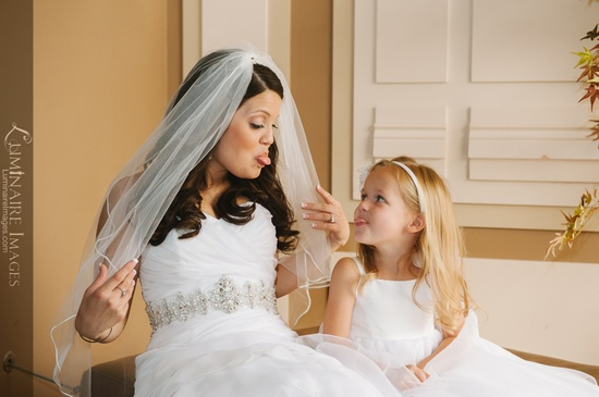 Funny pictures with flower girl