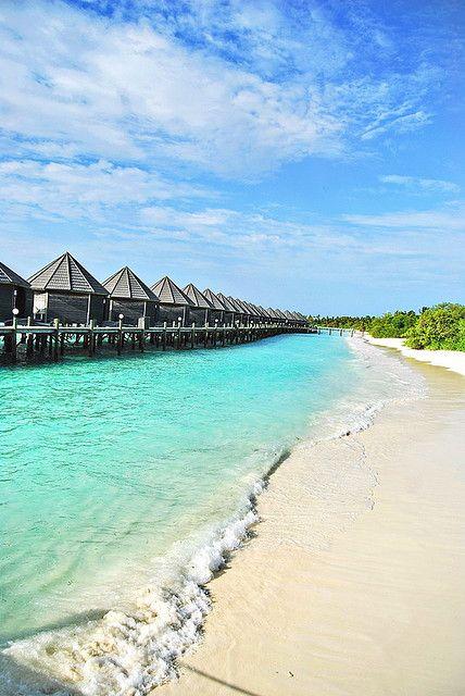 Beautiful beach in Kuredu Island, Maldives
