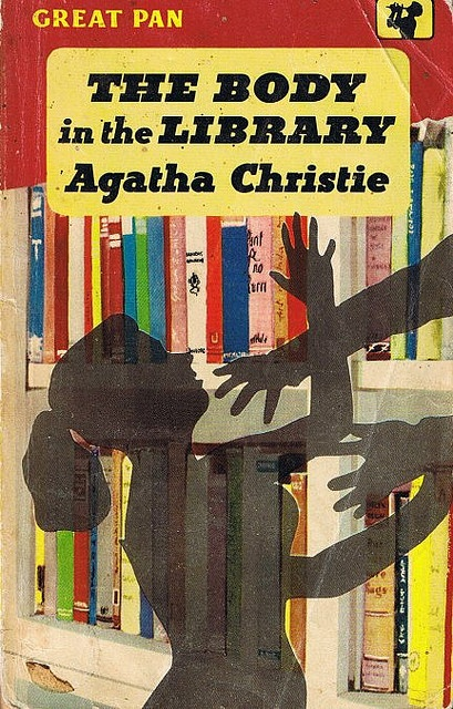 The Body in the Library by Agatha Christie. Pan Books, 1959. via Bonito Club