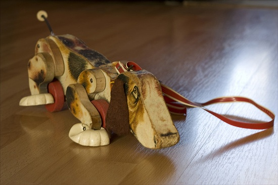 Fisher Price Wooden Dog // J'avais le même petite ^^