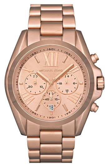 Michael Kors -- rose gold large watch, yes please