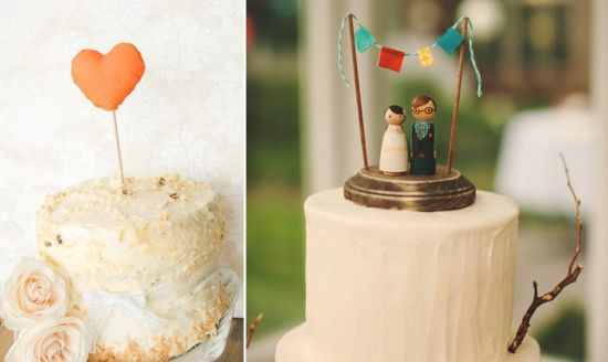 8 creative handmade wedding cake toppers