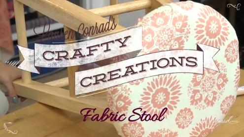 diy fabric covered stool #craftycreations