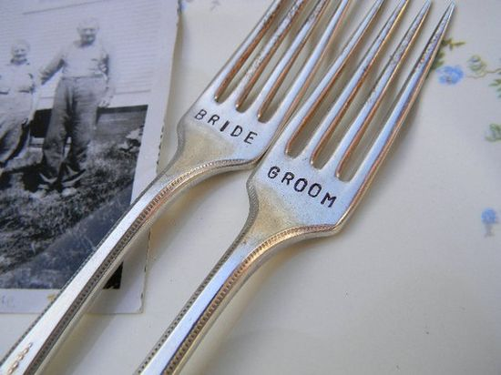 Bride/groom silverware.