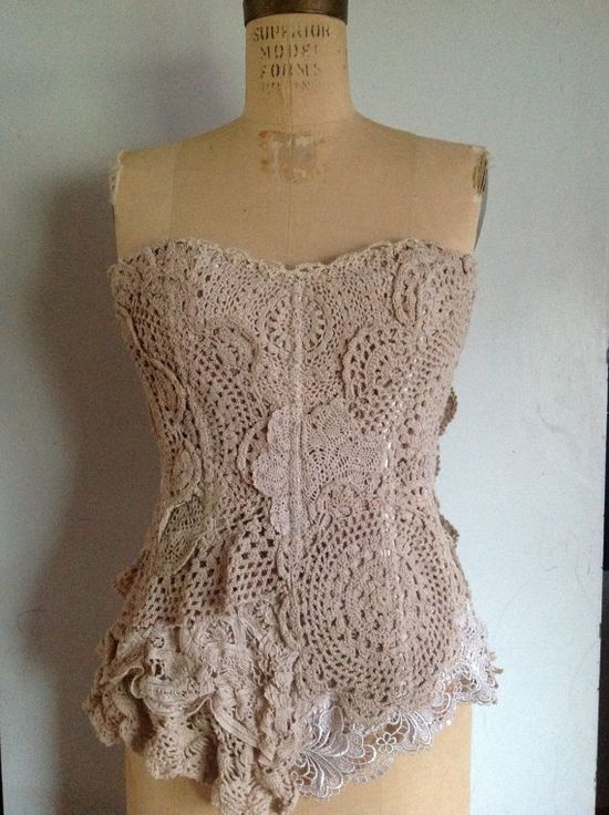 Vintage inspire victorian corsette by fromtheattic1 on Etsy, $155.00
