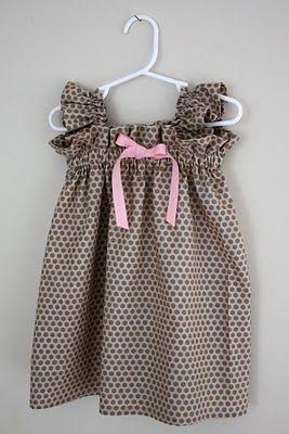 little girl elastic dress - tutorial