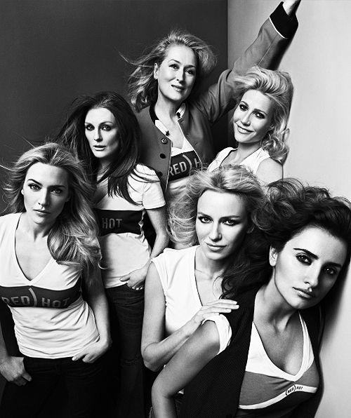 Meryl Streep, Julianne Moore, Gwyneth Paltrow, Kate Winslet, Naomi Watts and Penélope Cruz (for Vogue Paris)  #hollywood #celebrity #vogue