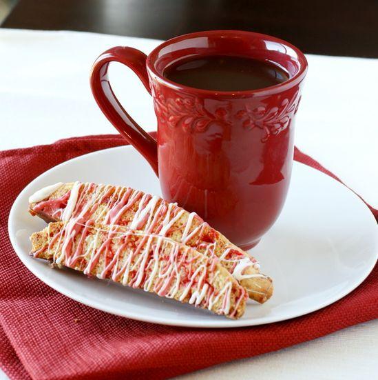 Candy Cane Biscotti