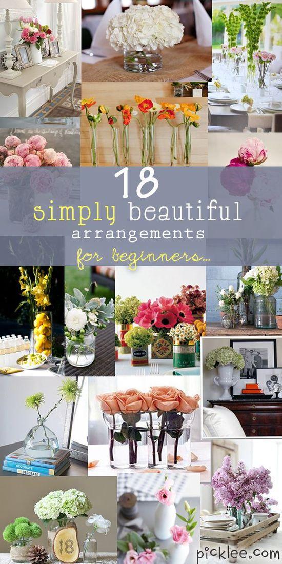 18 flower arrangments