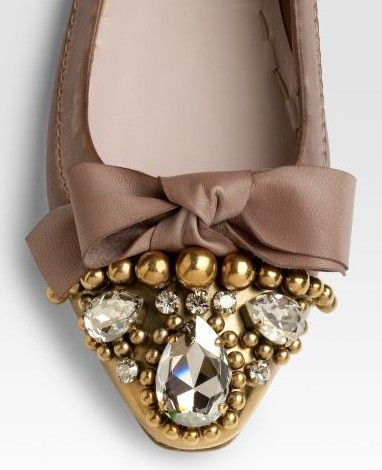 miu miu? flats with bow and rhinestones - Crush Cul de Sac