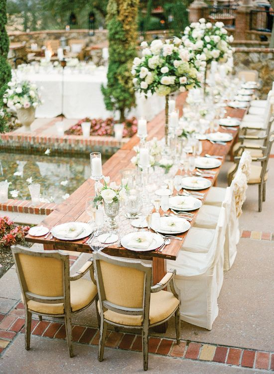 Drooling over this elegance #tablescape + raised #centerpieces