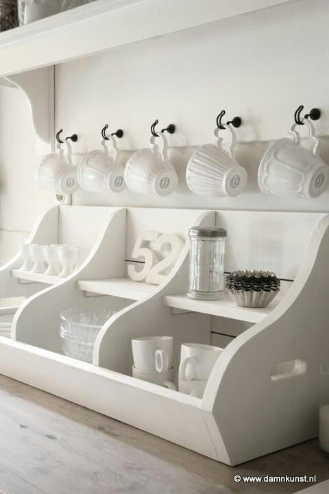 white kitchen storage