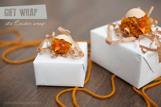 Vixyblu - handmade creative boutique: DIY Easter Gift Wrap