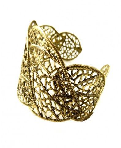 Cuff Bracelet with Cut-work Design