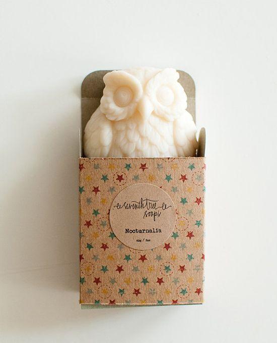 Coconut Soap - NOCTURNALIA Owl Soap - Natural, Handmade, Cold Processed, Vegan
