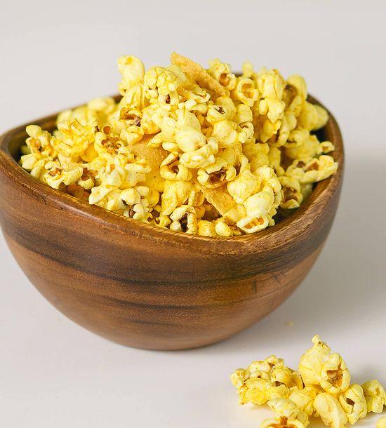 Savory Masala Popcorn with Papadams