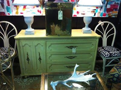 Mrs. Preppy - shabby chic dresser - myshabbychicdecor... - #shabby chic #home decor #design #ideas #wedding #living room #bedroom #bathroom #kithcen #shabby chic furniture
