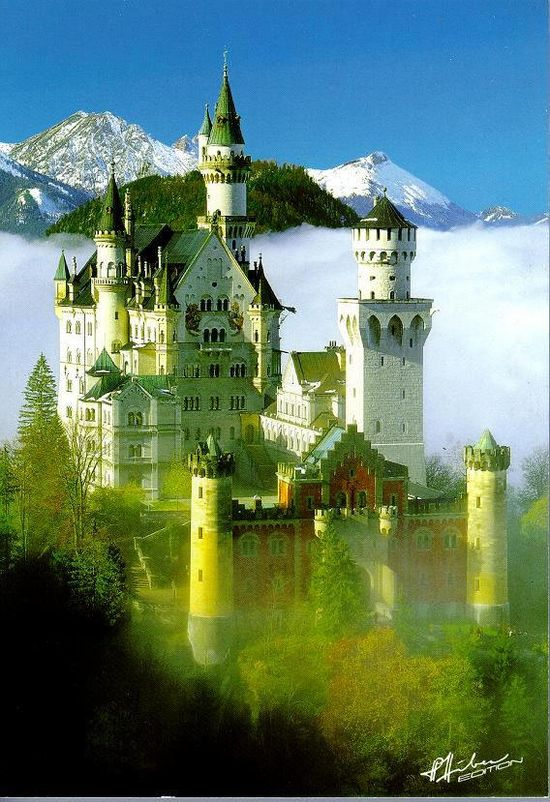 Bavarian Castles Neuschwannstein, King Ludwig's Castle in Bavaria.I would love to go see this place one day.Please check out my website thanks. www.photopix.co.nz