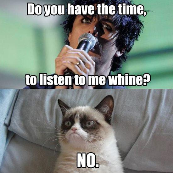 Grumpy cat listens to green day. #GrumpyCat #Meme