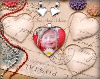 Glass heart - DIY jewelry