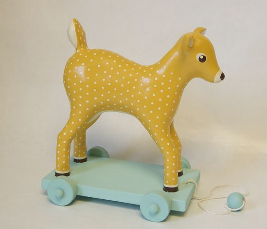 deer pull toy by matsutake-blog, via Flickr