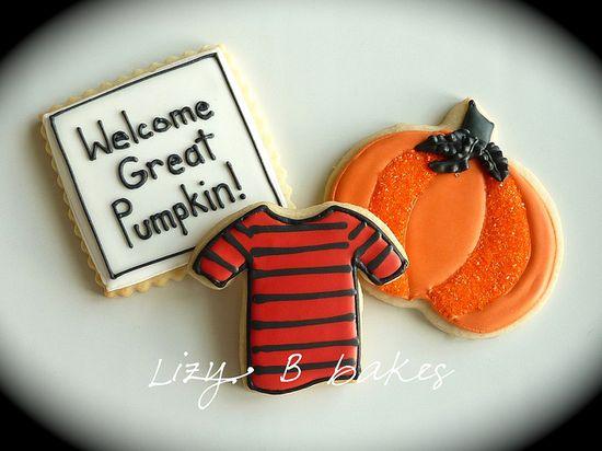 'Great Pumpkin' cookies