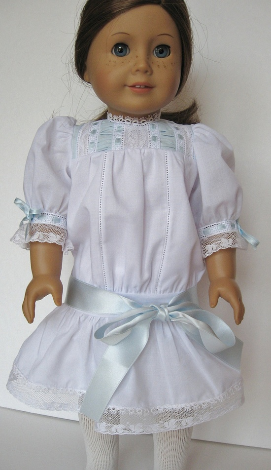 Heirloom Summer Dress for 18 Inch Doll Samantha or Rebecca