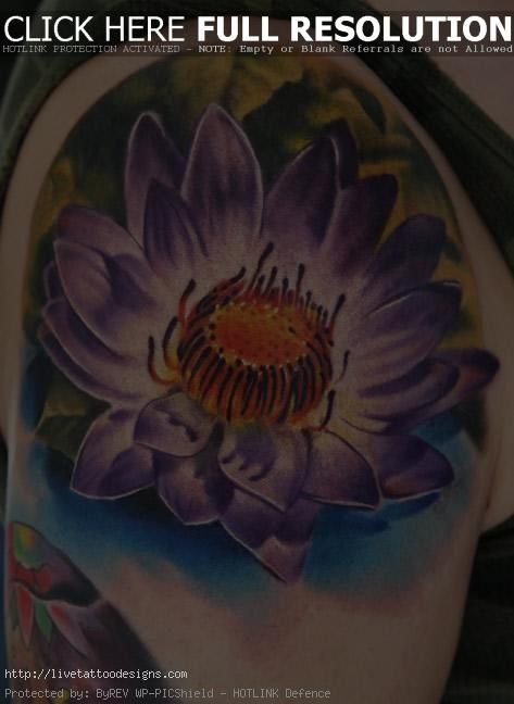 Lotus Flower Tattoos Design
