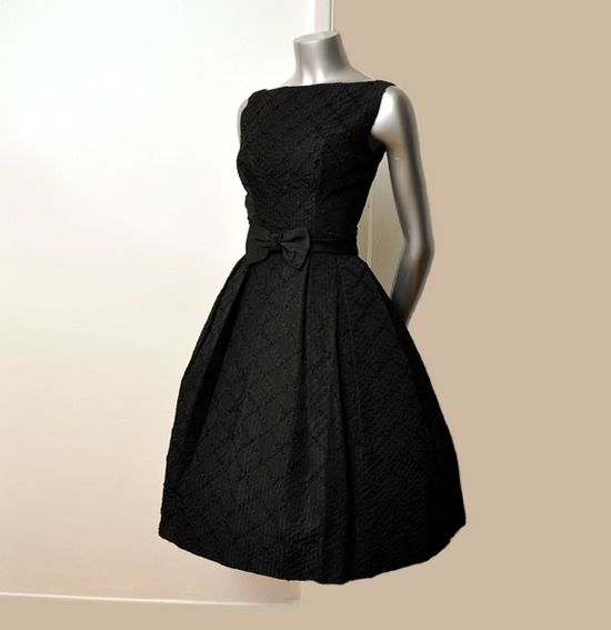 fabulous black 1950 dress
