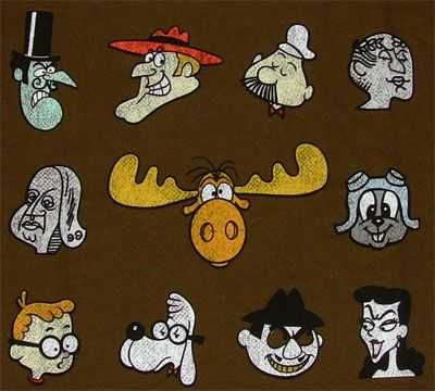 Bullwinkle & rocky and Friends  Can you name all the characters?